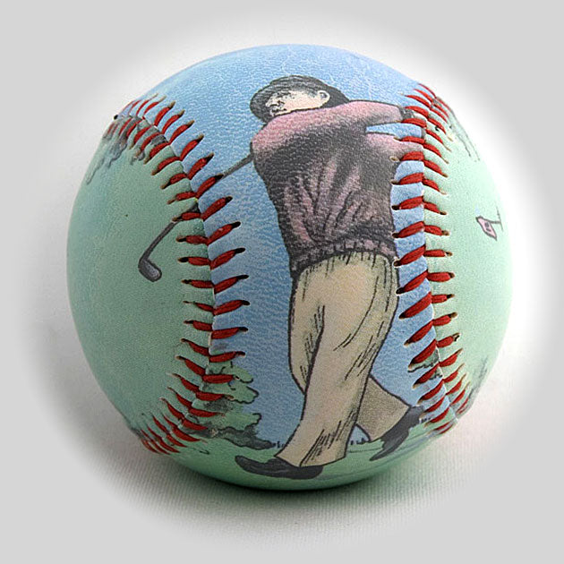 Buy Golfer Baseball Collectible • Hand-Painted, Unique Baseball Gifts by Unforgettaballs®
