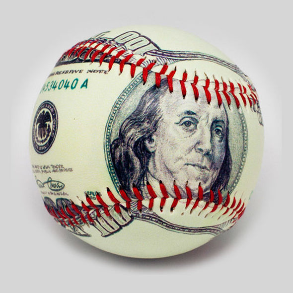 Buy The $100 Bill Baseball Collectible • Hand-Painted, Unique Baseball Gifts by Unforgettaballs®