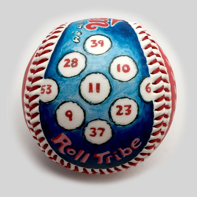 Buy Winning Streak Baseball: 2017 Cleveland Indians Collectible • Hand-Painted, Unique Baseball Gifts by Unforgettaballs®