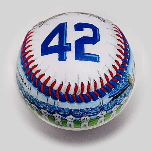 Buy Commemorative Baseball: Thank You, Jackie Collectible • Hand-Painted, Unique Baseball Gifts by Unforgettaballs®