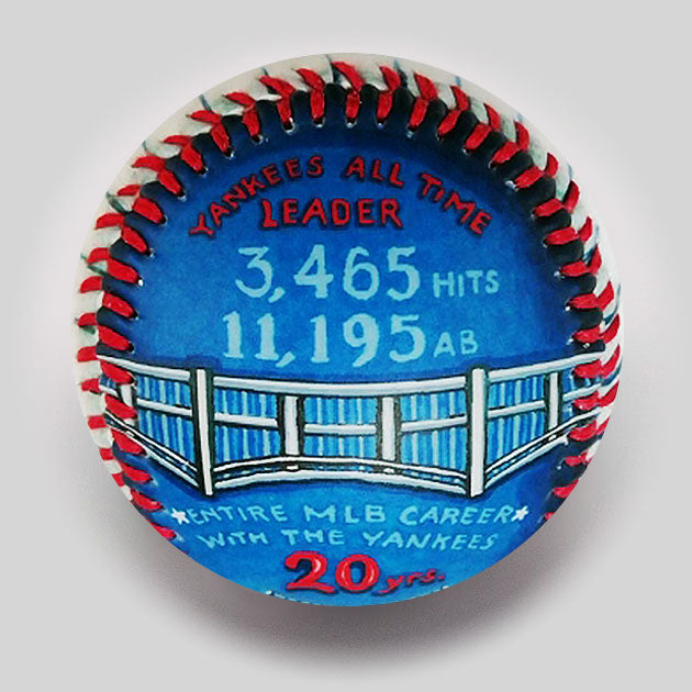 "Buy Commemorative Baseball: ""The Captain"" HOF 2020 Collectible • Hand-Painted, Unique Baseball Gifts by Unforgettaballs®"