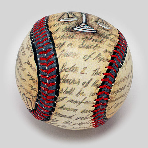 Buy Justice Baseball Collectible • Hand-Painted, Unique Baseball Gifts by Unforgettaballs®