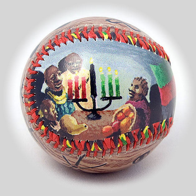 Buy Kwanzaa Baseball Collectible • Hand-Painted, Unique Baseball Gifts by Unforgettaballs®