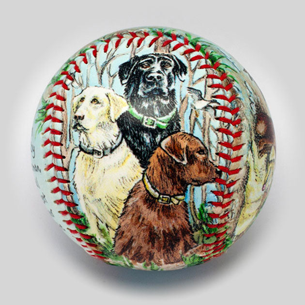 Buy Labrador Retriever Baseball Collectible • Hand-Painted, Unique Baseball Gifts by Unforgettaballs®