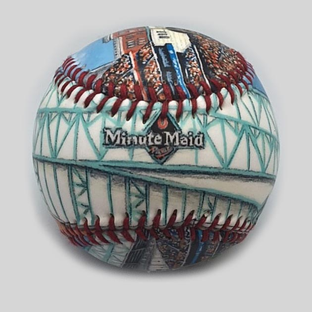 Buy Minute Maid Park Baseball Collectible • Hand-Painted, Unique Baseball Gifts by Unforgettaballs®