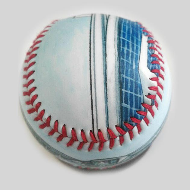 Buy Marlins Park Baseball Collectible • Hand-Painted, Unique Baseball Gifts by Unforgettaballs®