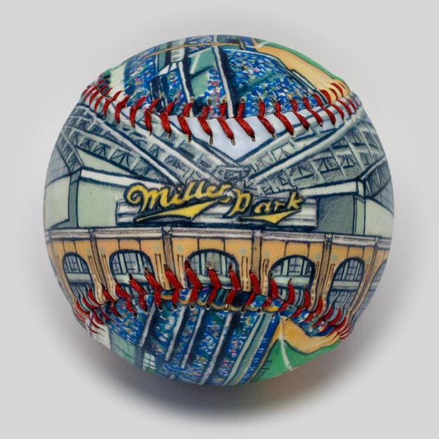 Buy Miller Park Baseball Collectible • Hand-Painted, Unique Baseball Gifts by Unforgettaballs®