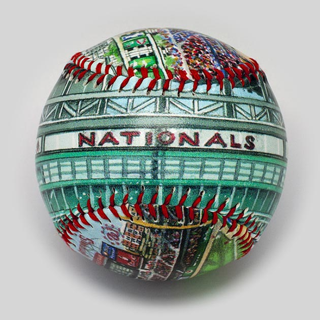Buy Nationals Park Baseball Collectible • Hand-Painted, Unique Baseball Gifts by Unforgettaballs®