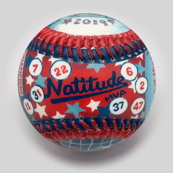 Buy World Series Win Baseball:  2019 Nationals Collectible • Hand-Painted, Unique Baseball Gifts by Unforgettaballs®