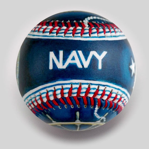 Buy Military: Navy Baseball Collectible • Hand-Painted, Unique Baseball Gifts by Unforgettaballs®