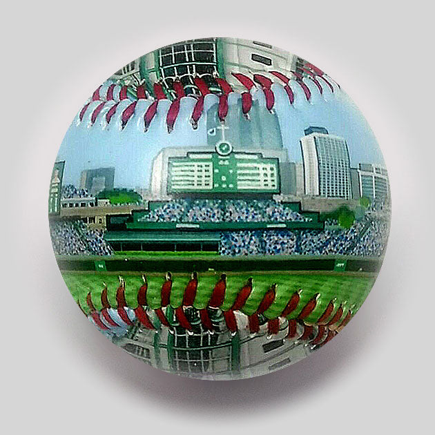 Buy New Wrigley Field Baseball Collectible • Hand-Painted, Unique Baseball Gifts by Unforgettaballs®