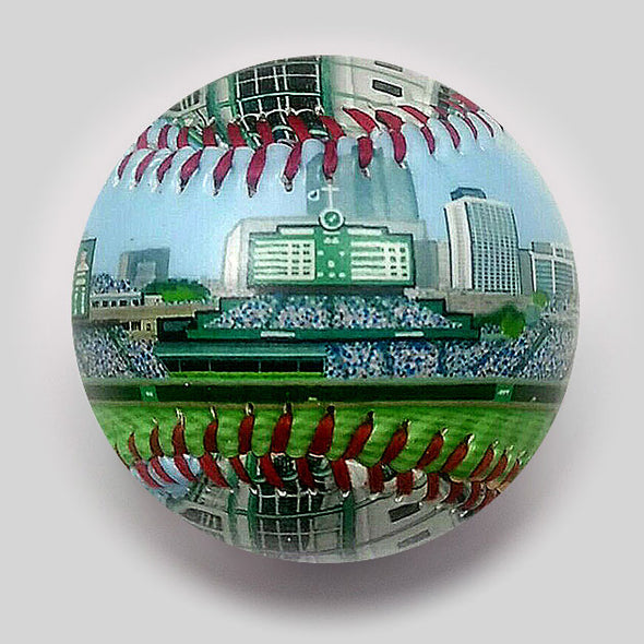 Buy New Wrigley Field Baseball  **ships 6/1/19** Collectible • Hand-Painted, Unique Baseball Gifts by Unforgettaballs®