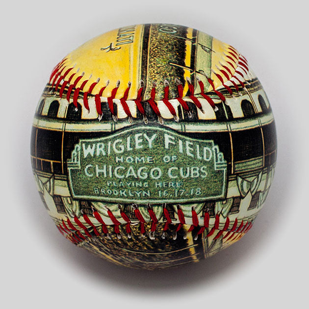 Buy Opening Day Baseball: Wrigley Field 1926 Collectible • Hand-Painted, Unique Baseball Gifts by Unforgettaballs®