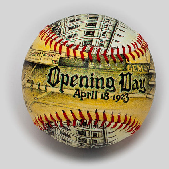 Buy Opening Day Baseball: Yankee Stadium 1923   **ships 5/15/19** Collectible • Hand-Painted, Unique Baseball Gifts by Unforgettaballs®
