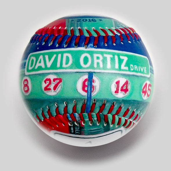 Buy Commemorative Baseball: Papi Landmark **ships 6/1/19** Collectible • Hand-Painted, Unique Baseball Gifts by Unforgettaballs®