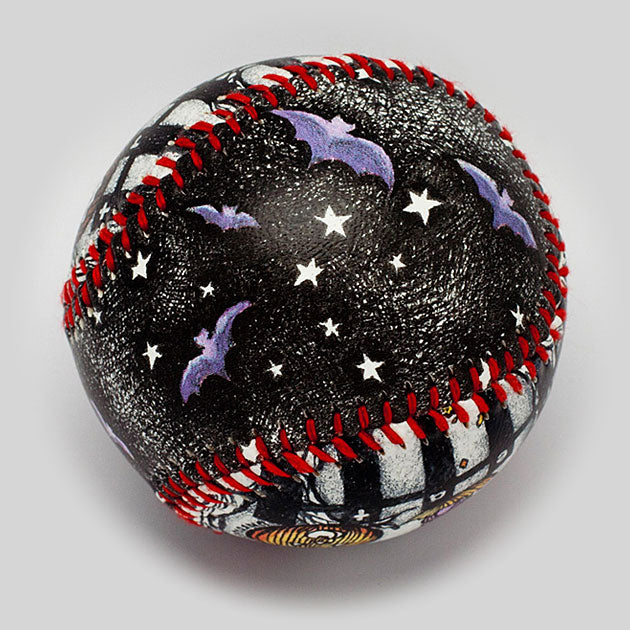 Buy Halloween Night at the Pumpkin Patch Baseball Collectible • Hand-Painted, Unique Baseball Gifts by Unforgettaballs®