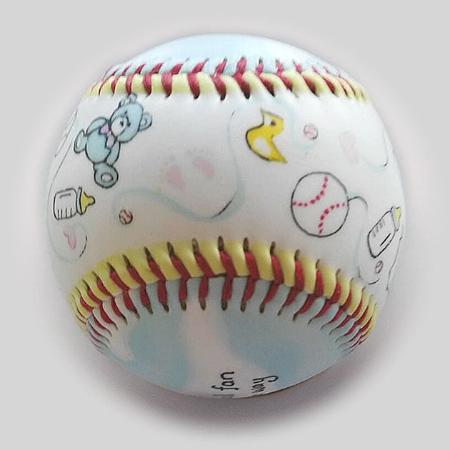 Buy We're Pregnant! Baseball Collectible • Hand-Painted, Unique Baseball Gifts by Unforgettaballs®