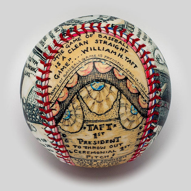 Buy The First Presidential Pitch Baseball Collectible • Hand-Painted, Unique Baseball Gifts by Unforgettaballs®