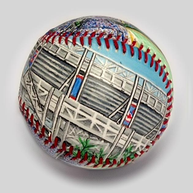 Buy Progressive Field Baseball Collectible • Hand-Painted, Unique Baseball Gifts by Unforgettaballs®