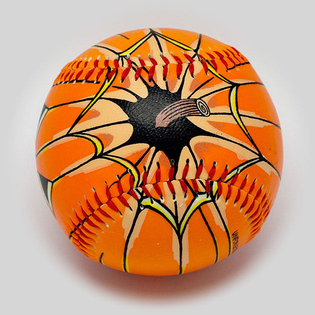 Buy Halloween Pumpkin Glow-In-The-Dark Baseball Collectible • Hand-Painted, Unique Baseball Gifts by Unforgettaballs®