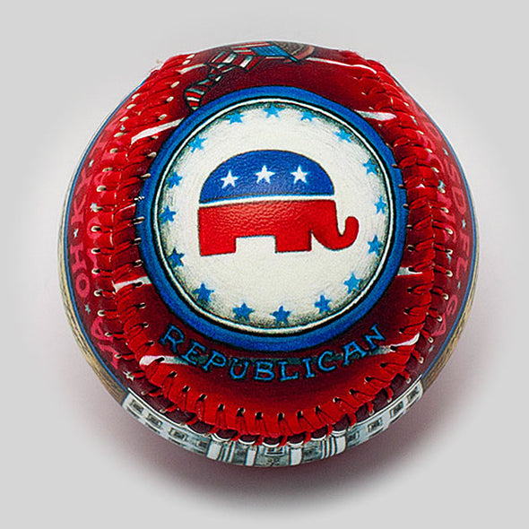 Buy The Republican Baseball Collectible • Hand-Painted, Unique Baseball Gifts by Unforgettaballs®