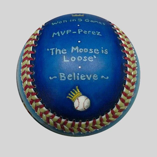 Buy World Series Win Baseball: 2015 Kansas City Royals Collectible • Hand-Painted, Unique Baseball Gifts by Unforgettaballs®