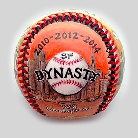 Buy World Series Win Baseball: 2014 San Francisco Giants Collectible • Hand-Painted, Unique Baseball Gifts by Unforgettaballs®