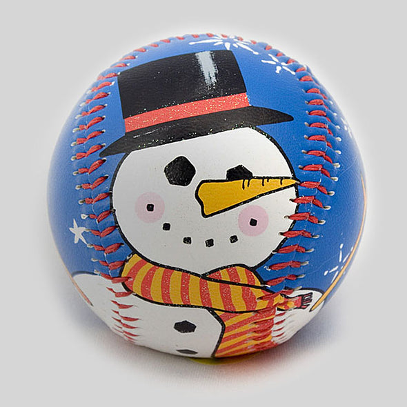 Buy Holiday Snowman Baseball Collectible • Hand-Painted, Unique Baseball Gifts by Unforgettaballs®