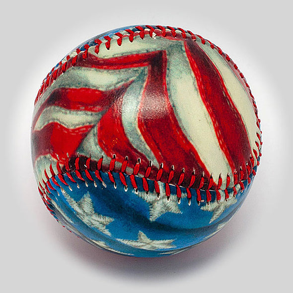 Buy Stars & Stripes Baseball Collectible • Hand-Painted, Unique Baseball Gifts by Unforgettaballs®