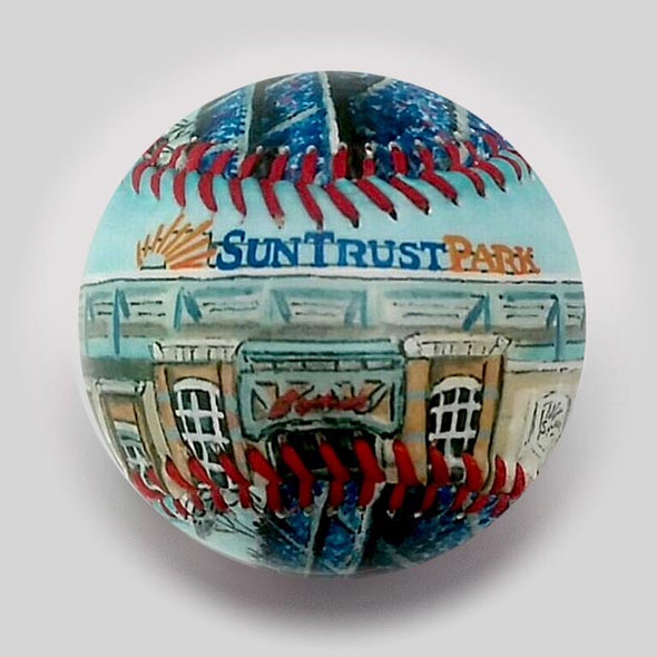 Buy SunTrust Park Baseball Collectible • Hand-Painted, Unique Baseball Gifts by Unforgettaballs®