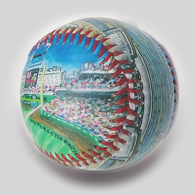 Buy College World Series Ballpark in Omaha Collectible • Hand-Painted, Unique Baseball Gifts by Unforgettaballs®