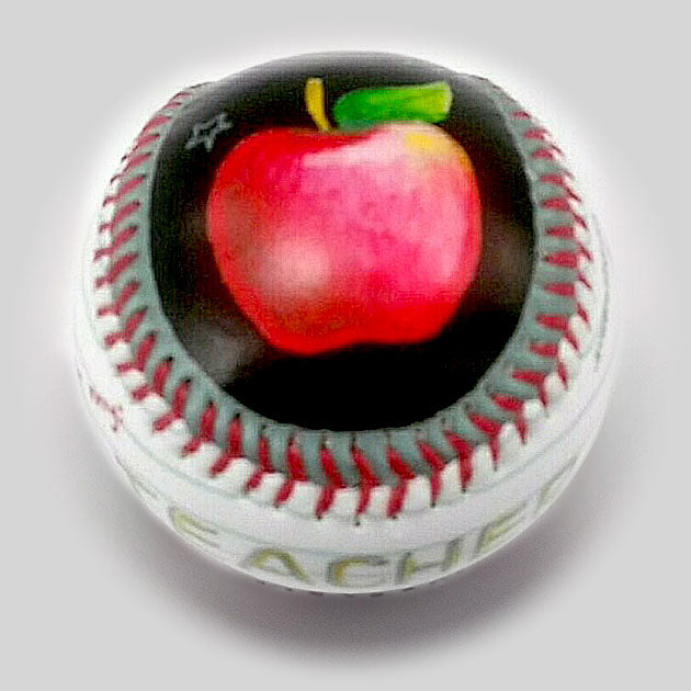 Buy Teacher Baseball Collectible • Hand-Painted, Unique Baseball Gifts by Unforgettaballs®