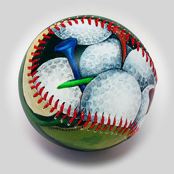 Buy Tee Time Baseball Collectible • Hand-Painted, Unique Baseball Gifts by Unforgettaballs®