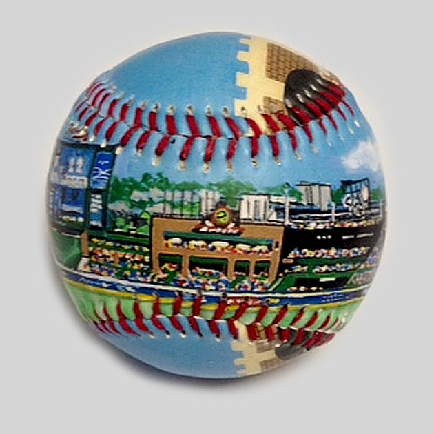Buy Turner Field Baseball Collectible • Hand-Painted, Unique Baseball Gifts by Unforgettaballs®
