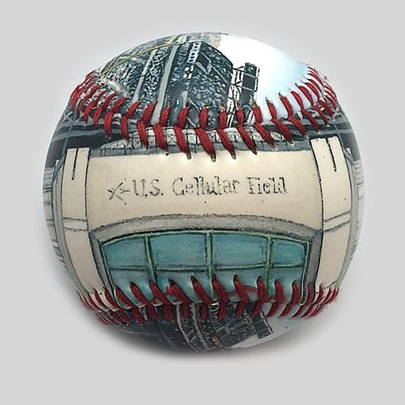 Buy US Cellular Field Baseball Collectible • Hand-Painted, Unique Baseball Gifts by Unforgettaballs®