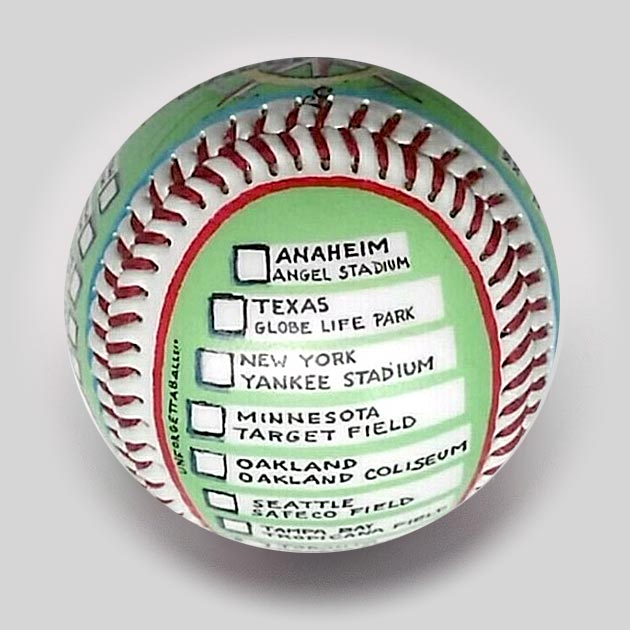 Buy Visiting All Ballparks (Current) Commemorative Baseball Collectible • Hand-Painted, Unique Baseball Gifts by Unforgettaballs®
