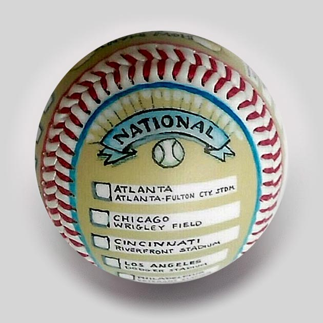 Buy Visiting All Ballparks (Past) Commemorative Baseball Collectible • Hand-Painted, Unique Baseball Gifts by Unforgettaballs®