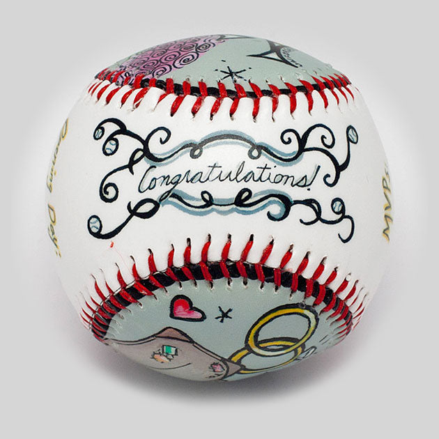 Buy Wedding Baseball Collectible • Hand-Painted, Unique Baseball Gifts by Unforgettaballs®