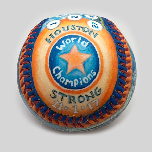 Buy World Series Win Baseball: 2017 Houston Astros Collectible • Hand-Painted, Unique Baseball Gifts by Unforgettaballs®