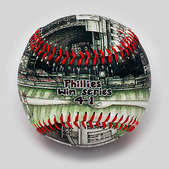 Buy World Series Win Baseball: 2008 Philadelphia Phillies Collectible • Hand-Painted, Unique Baseball Gifts by Unforgettaballs®
