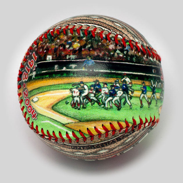 Buy World Series Win Baseball: 2004 Boston Red Sox Collectible • Hand-Painted, Unique Baseball Gifts by Unforgettaballs®