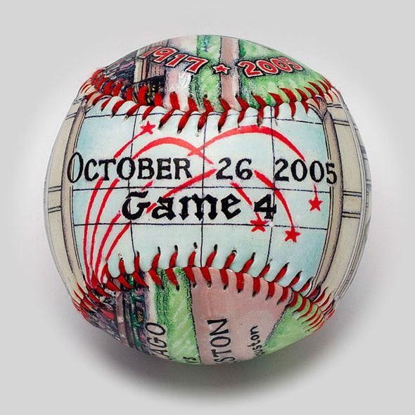 Buy World Series Win Baseball: 2005 Chicago White Sox Collectible • Hand-Painted, Unique Baseball Gifts by Unforgettaballs®