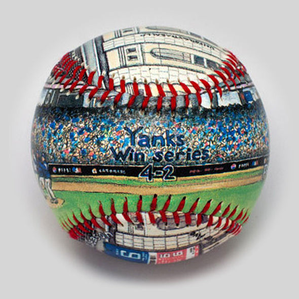 Buy World Series Win Baseball: 2009 New York Yankees Collectible • Hand-Painted, Unique Baseball Gifts by Unforgettaballs®