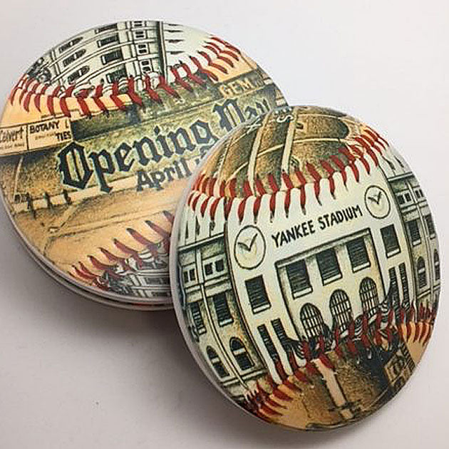 Buy Opening Day Yankee Stadium Coaster Set Collectible • Hand-Painted, Unique Baseball Gifts by Unforgettaballs®