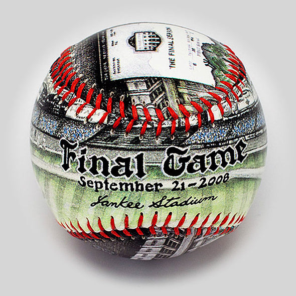 Buy The Final Day at Yankee Stadium Baseball Collectible • Hand-Painted, Unique Baseball Gifts by Unforgettaballs®