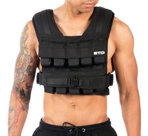 ETD Weight Vest 15kg - Black