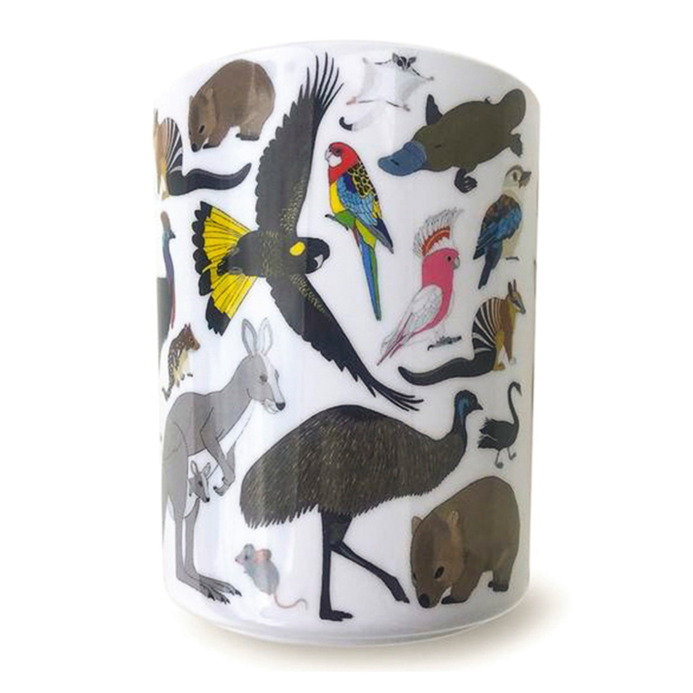 Red Parka - Melamine Cup - Australian Animals