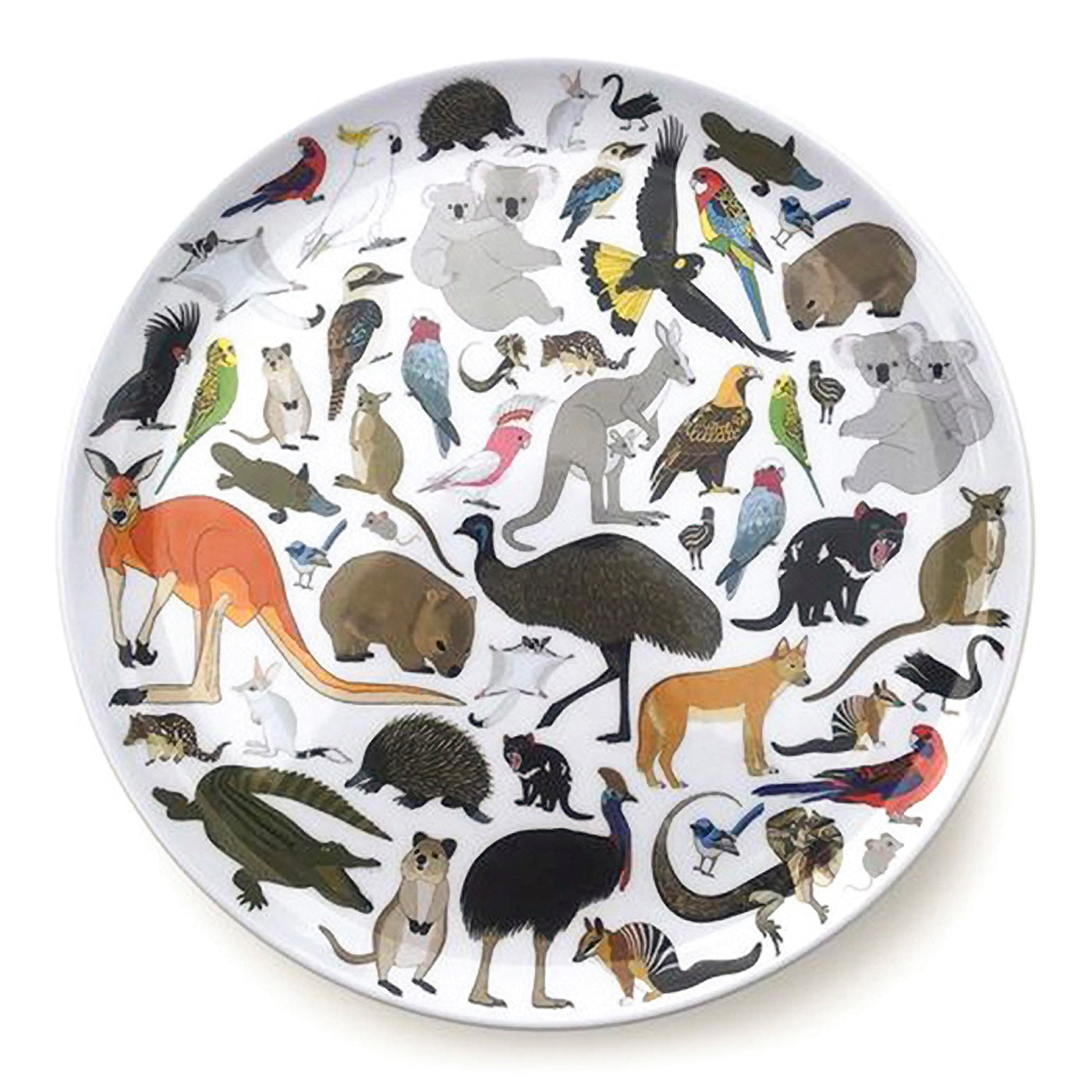 Red Parka - Melamine Plate - Australian Animals