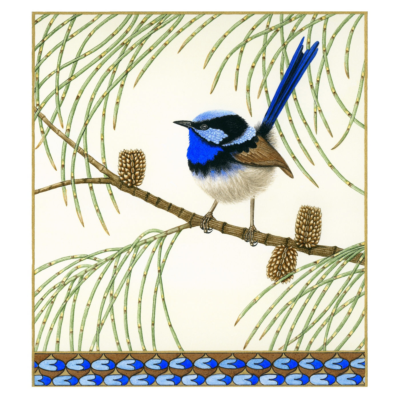 Sylvie Gerozisis - Birds of Tasmania - Art Print - Superb Fairy-wren