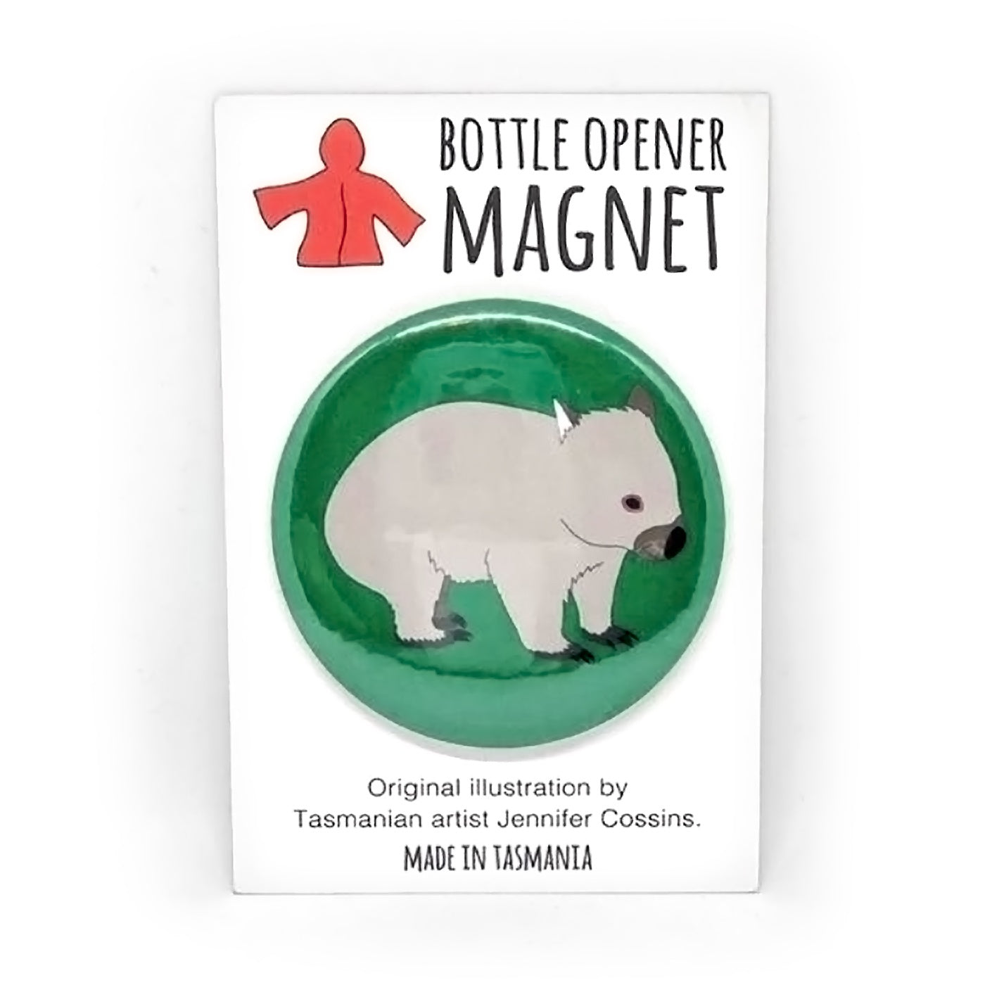 Red Parka – Bottle Opener Magnet - Wombat
